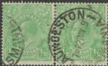 SG 20b ACSC 63(5)g. KGV Head ½d Green pair (AHSUP/31)